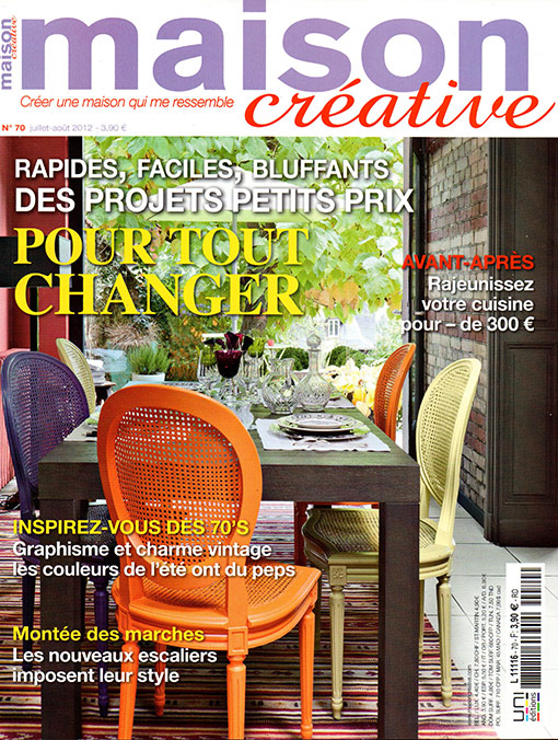les papiers peints ohmywall dans le magazine maison creative papier peint original. Black Bedroom Furniture Sets. Home Design Ideas