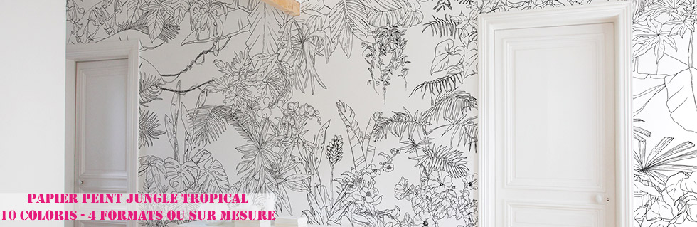 papier peint original et d cor mural ohmywall. Black Bedroom Furniture Sets. Home Design Ideas