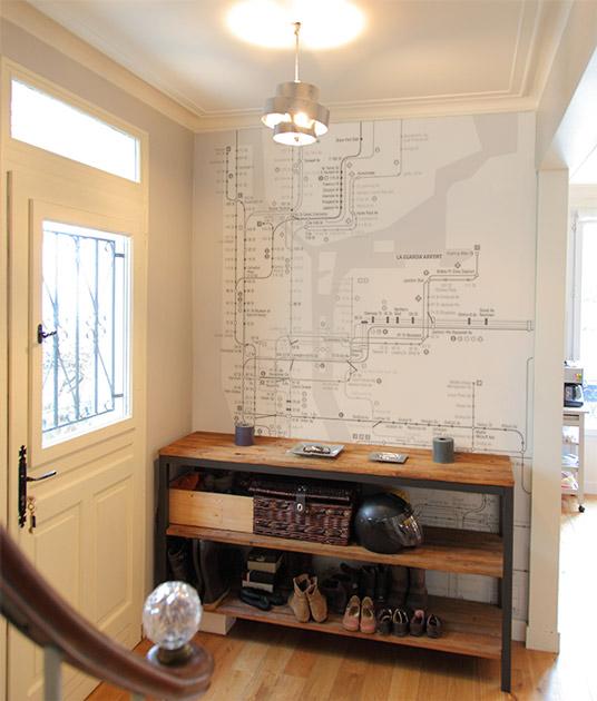 papier peint original d coration murale en dition limit e papier peint plan m tro de new. Black Bedroom Furniture Sets. Home Design Ideas