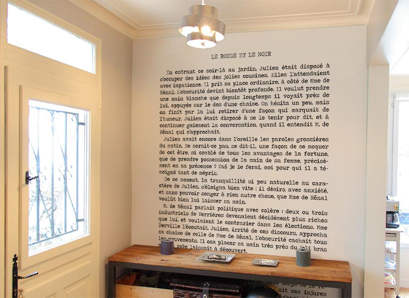 papier peint original d coration murale en dition limit e papier peint stendhal le rouge et. Black Bedroom Furniture Sets. Home Design Ideas
