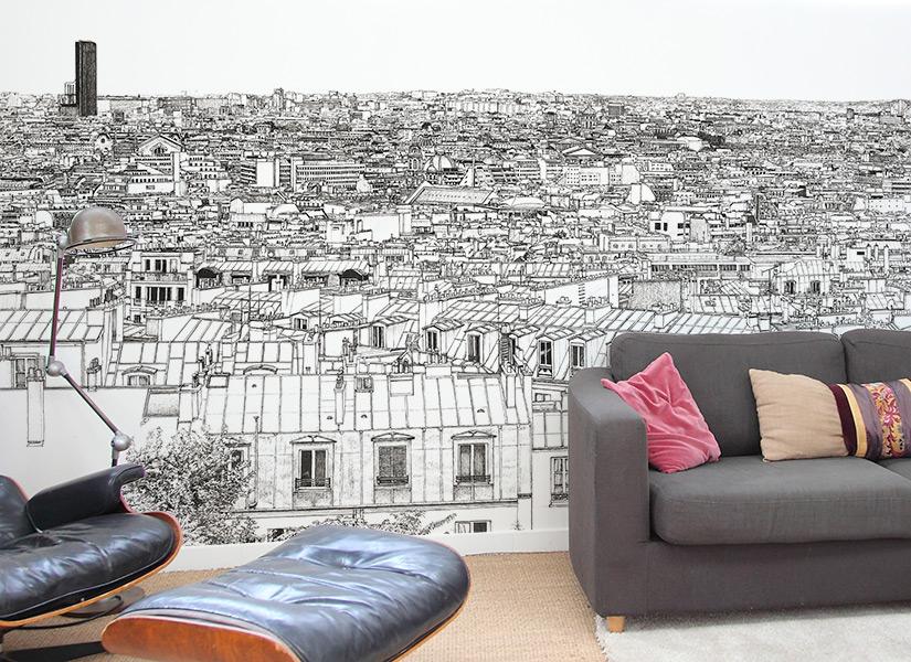 papier peint paris decoration home 2016. Black Bedroom Furniture Sets. Home Design Ideas