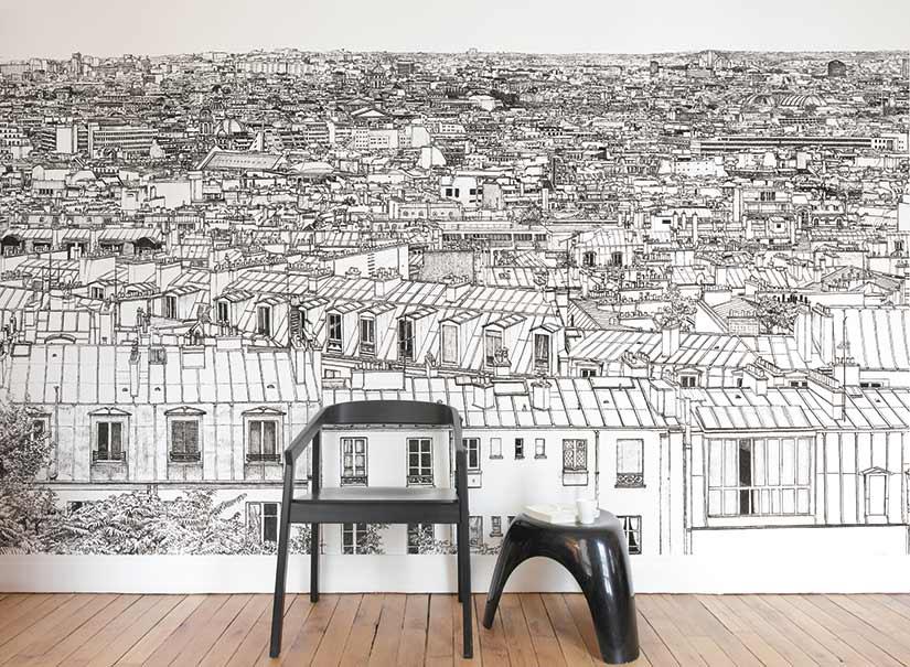 Papier peint mural cuisine hyeres renovation devis for Papier peint de renovation