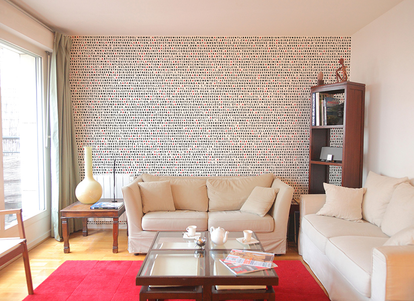 Papier peint original d coration murale en dition limit e papier peint panoramique droits - Papier peint salon design ...