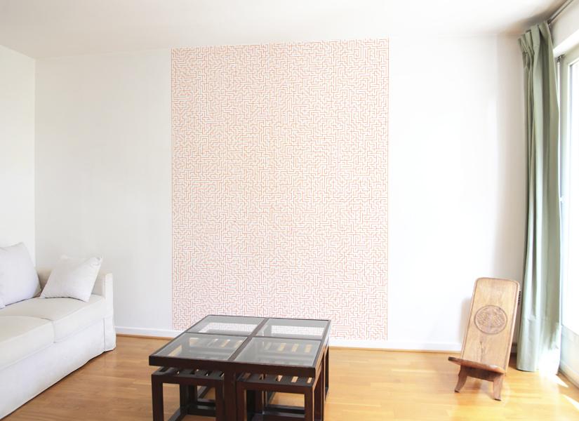 papier peint original d coration murale en dition limit e papier peint medium labyrinthe. Black Bedroom Furniture Sets. Home Design Ideas