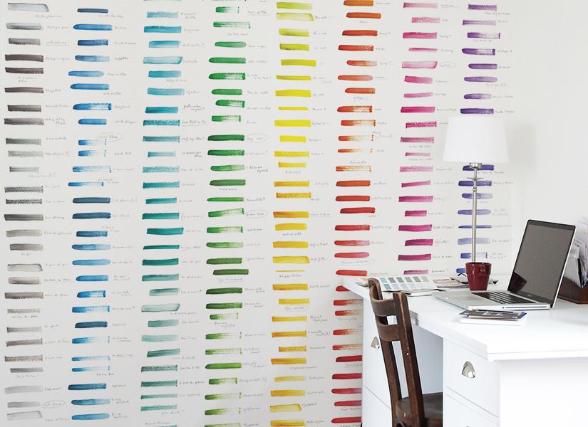Le papier peint nuancier de ohmywall dans le journal suisse tages anzeiger - Papier peint journal ...