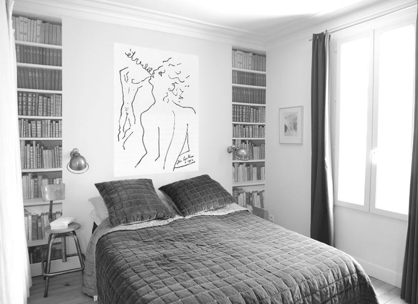 Papier peint original d coration murale en dition - Deco de chambre noir et blanc ...