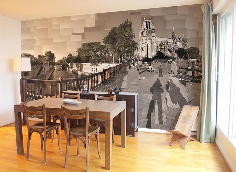 Papier peint original d coration murale en dition for Papier peint salle a manger