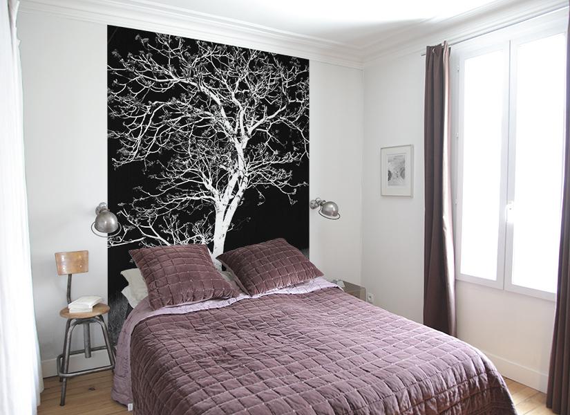 papier peint original d coration murale en dition limit e papier peint photo arbre nocturne. Black Bedroom Furniture Sets. Home Design Ideas