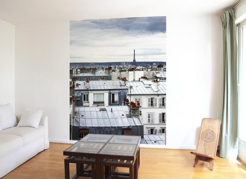 papier peint original d coration murale en dition limit e papier peint photo toits paris. Black Bedroom Furniture Sets. Home Design Ideas