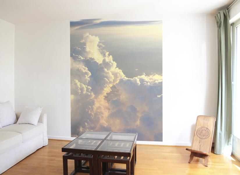 papier peint original d coration murale en dition limit e papier peint photo vallee de nuage. Black Bedroom Furniture Sets. Home Design Ideas