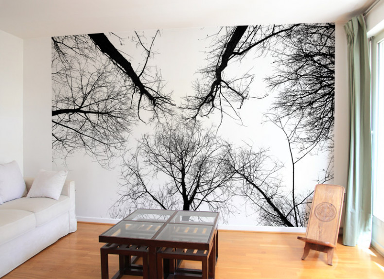 papier peint original d coration murale en dition limit e papier peint photo la cime des arbres. Black Bedroom Furniture Sets. Home Design Ideas