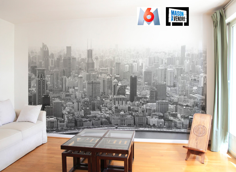 Papier peint original d coration murale en dition for Decoration murale vue sur new york