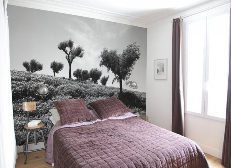 papier peint original d coration murale en dition limit e papier peint photo arbres sentinelles. Black Bedroom Furniture Sets. Home Design Ideas