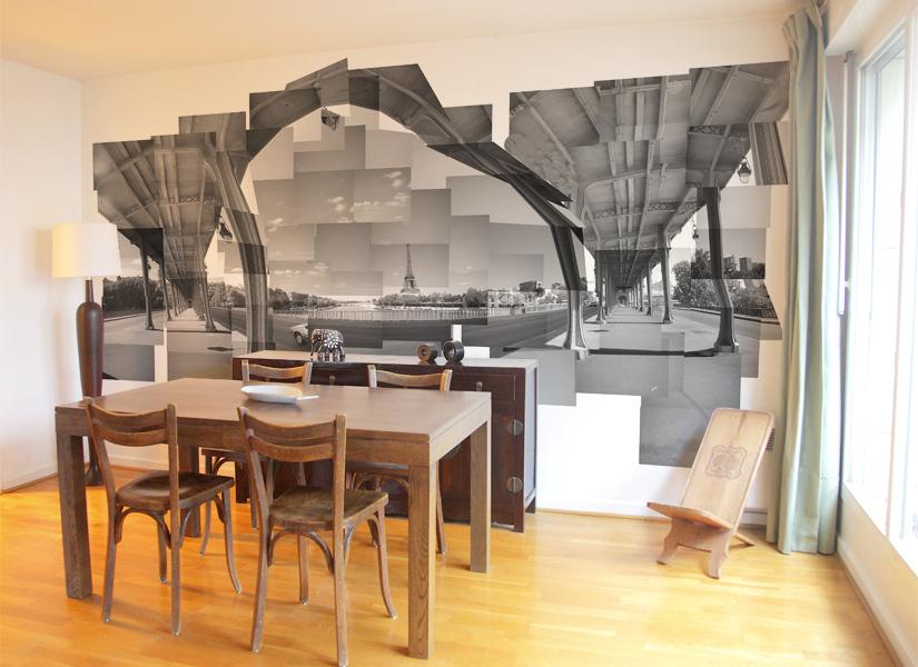 Papier peint original d coration murale en dition for Deco peinture salle amanger