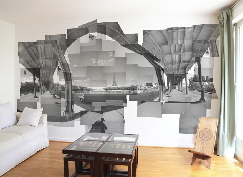 cuisine peinte en bleu. Black Bedroom Furniture Sets. Home Design Ideas