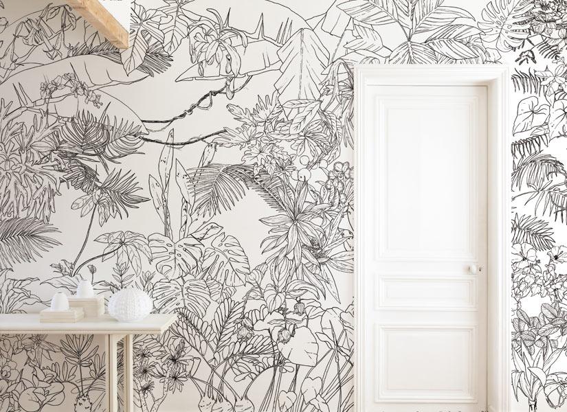 papier peint original d cor mural en dition limit e cr ation design. Black Bedroom Furniture Sets. Home Design Ideas