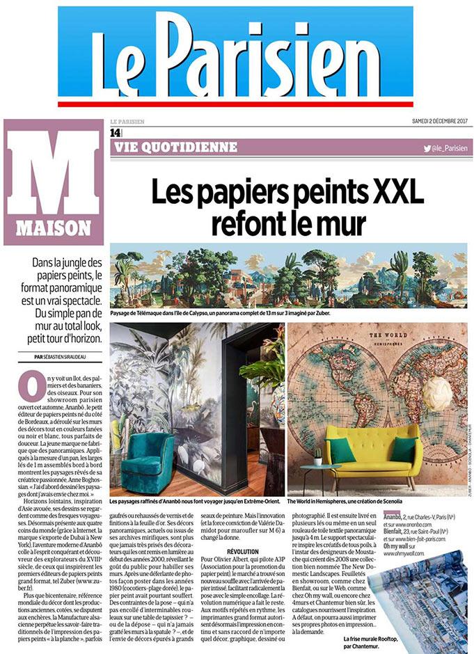 Papier Peint Original Decor Mural En Edition Limitee Le Parisien