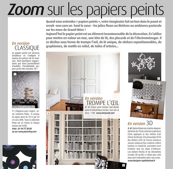 papier peint original d cor mural en dition limit e ohmywall dans les m dias. Black Bedroom Furniture Sets. Home Design Ideas