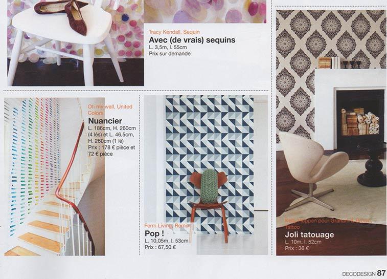 Papier peint original d cor mural en dition limit e for Deco design magazine