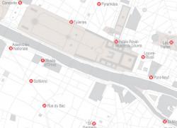 Papier peint CARTE DE PARIS Panoramique en Gris