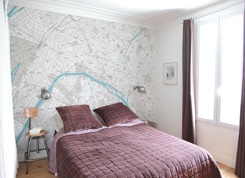Papier peint original d coration murale en dition for Papier peint chambre adulte chantemur