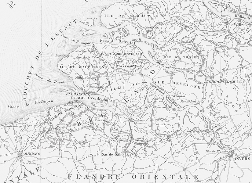Papier Peint CARTE Et TERRITOIRE Noir Et Blanc