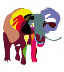 Papier peint Eléphant 3