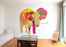 Papier peint Eléphant 2