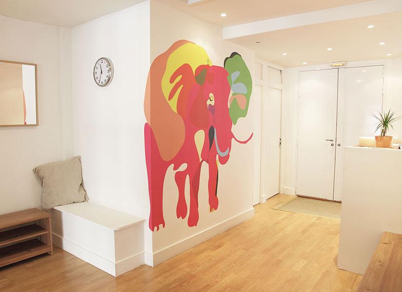 papier peint original d cor mural en dition limit e ohmywall papier peint l phant 1. Black Bedroom Furniture Sets. Home Design Ideas