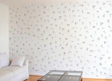 Papier peint Mirabilia Florum Noir et Blanc Panoramique