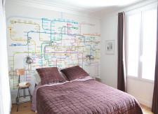 Papier peint PLAN DU METRO DE PARIS