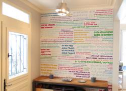 Papier peint PROVERBES en couleur