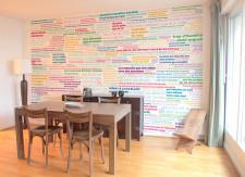 Papier peint PROVERBES en couleur Panoramique