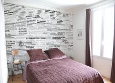 Papier peint PROVERBES en Noir et Blanc Panoramique