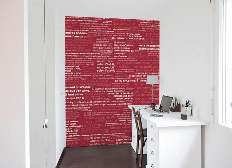 Papier peint PROVERBES Fond coloré Medium