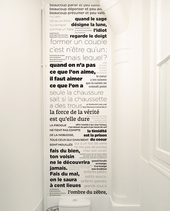 papier peint original d cor mural en dition limit e le unique de papier peint proverbes en. Black Bedroom Furniture Sets. Home Design Ideas