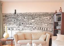 Papier peint Vue de Paris Montparnasse Concorde Panoramique