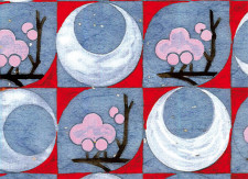 Papier peint Sakuras roses by Otsuki Sama Medium