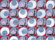 Papier peint Sakuras roses by Otsuki Sama Déco