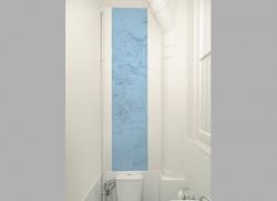 Lé unique de papier peint CARTE et TERRITOIRE Bleue DECO