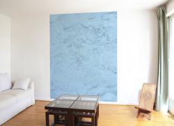 Papier peint CARTE et TERRITOIRE Bleue Medium