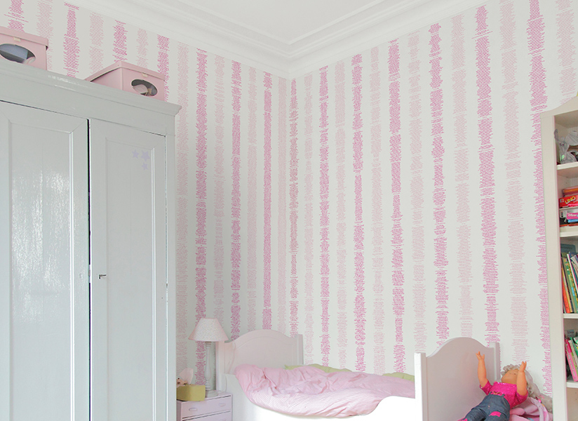 Papier peint original d cor mural en dition limit e for Papier peint chambre bebe fille