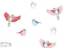 Papier peint Les Oiseaux de Pierrot en couleur Medium