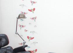 Papier peint Les Oiseaux de Pierrot en couleur Deco