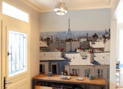 Papier peint Paris en Août