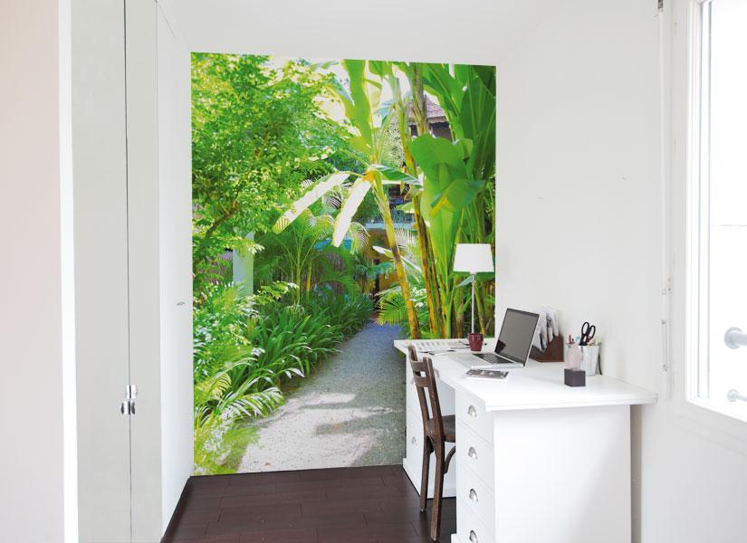 Papier peint original d coration murale en dition limit e papier pei - Papier peint tropical ...