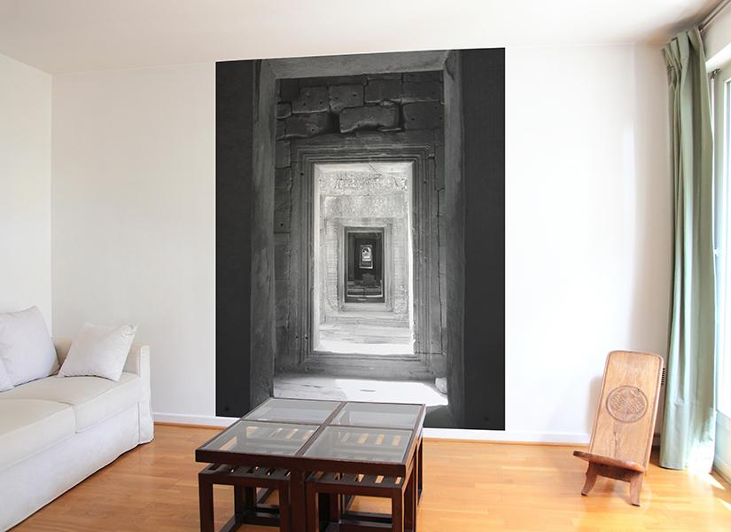 papier peint original d cor mural en dition limit e papier peint trompe l 39 oeil angkor toujours. Black Bedroom Furniture Sets. Home Design Ideas