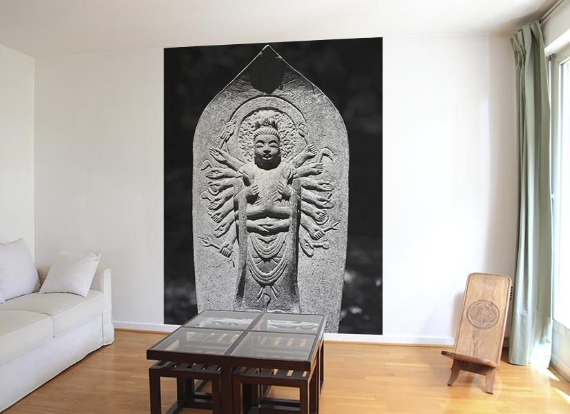 papier peint original d cor mural en dition limit e papier peint photo bouddha nara. Black Bedroom Furniture Sets. Home Design Ideas