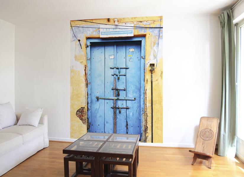 papier peint original d cor mural en dition limit e papier peint trompe l 39 oeil entr e libre. Black Bedroom Furniture Sets. Home Design Ideas