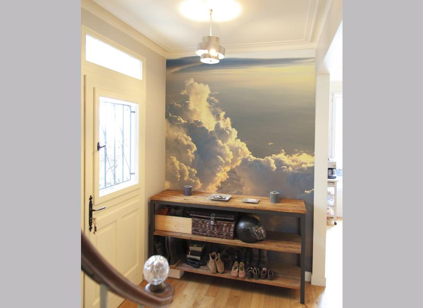 Papier peint original d cor mural en dition limit e for Papier peint nuage